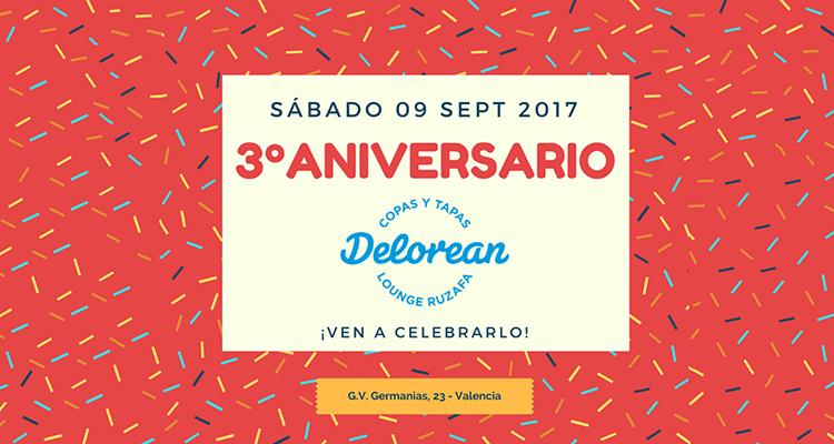 Fiesta de aniversario en Delorean