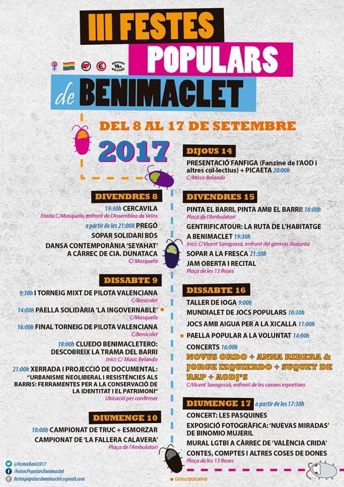 fiestas populares benimaclet