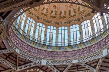 Dome of the Central Market in Valencia, Spain