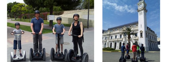 familes doing a Segway trip family
