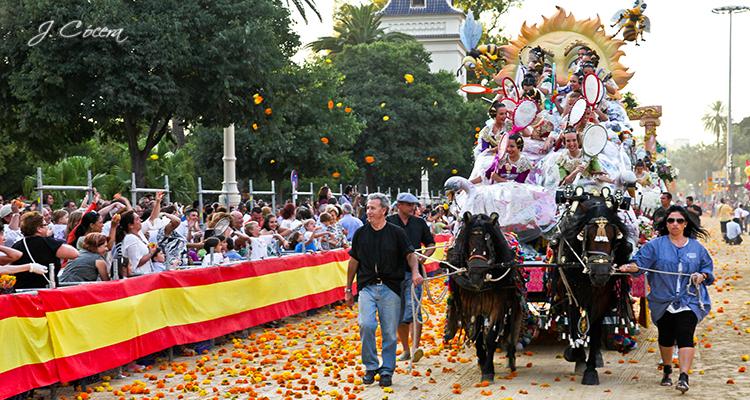 battaglia dei fiori a Valencia