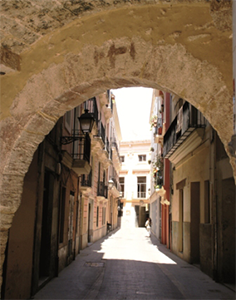 Itinerario della seta, centro città