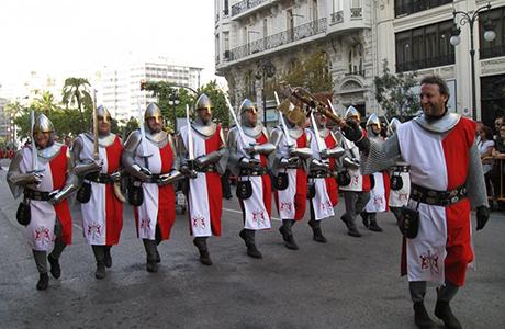 entrata dei mori e dei cristiani nella città