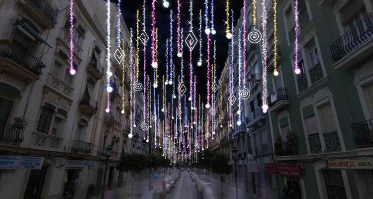 calles iluminadas fallas 2020