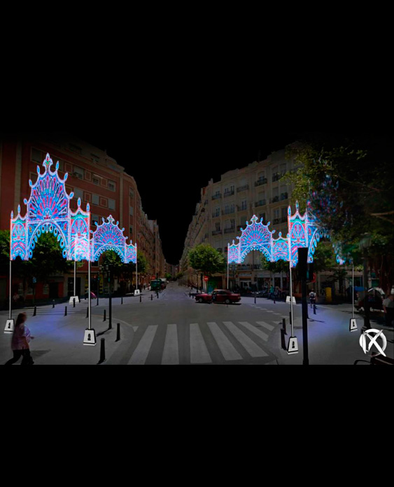 calles iluminadas fallas