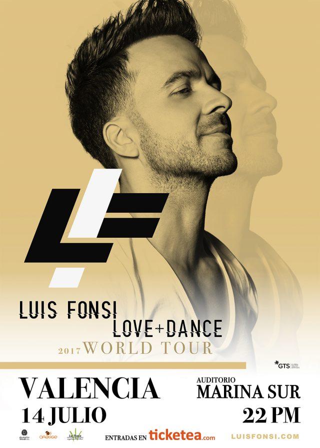 Luis Fonsi en concierto en Valencia