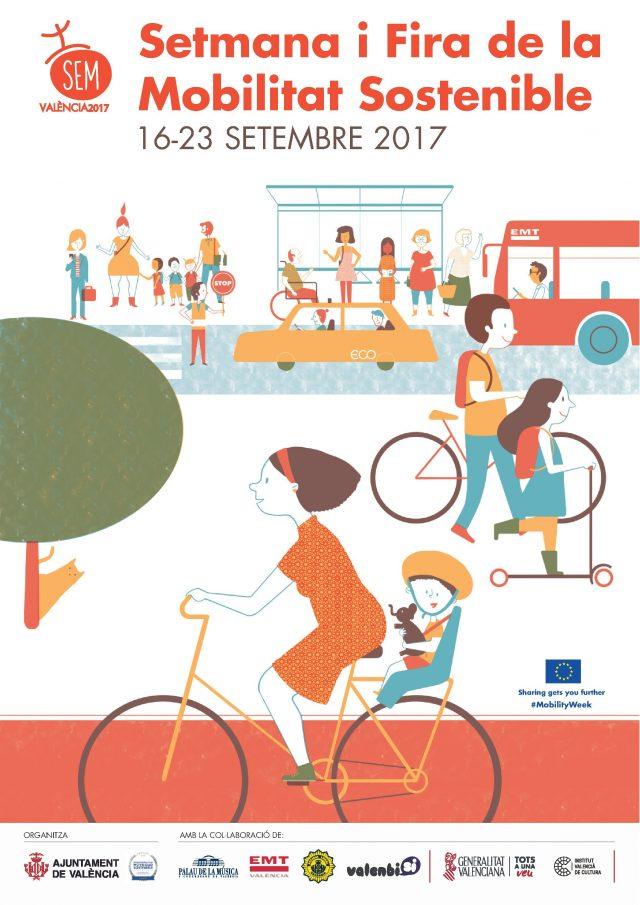 Cartel Semana y Feria de la Movilidad Sostenible en Valencia