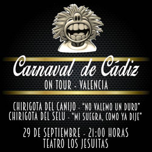 Carnaval de Cádiz en el teatro Escuelas San José Jesuitas Valencia