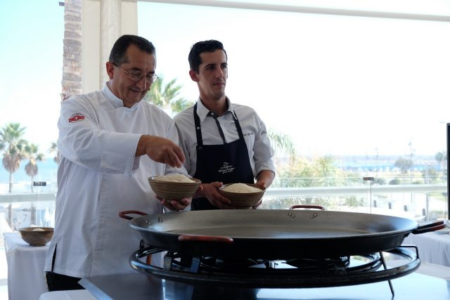 Show cooking en Marina Beach