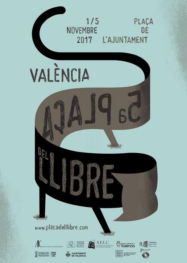 Cartel 5ª Plaza del libro en Valencia