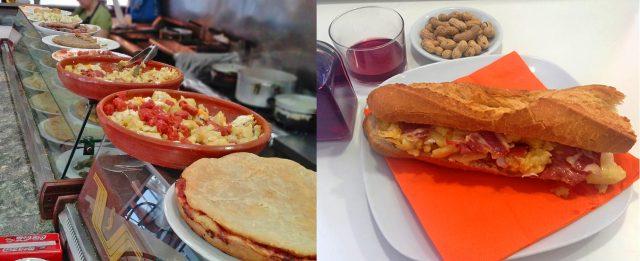Bar Restaurante Rojas Clemente Valencia Tortilla de patatas almuerzos en Valencia