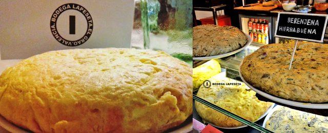 Tortillas en Valencia Bodega La Peseta