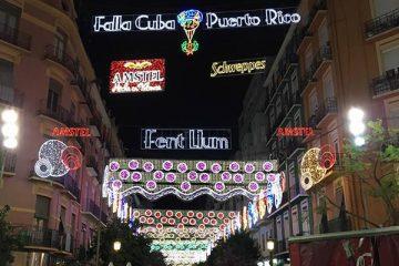 iluminacion calles valencia