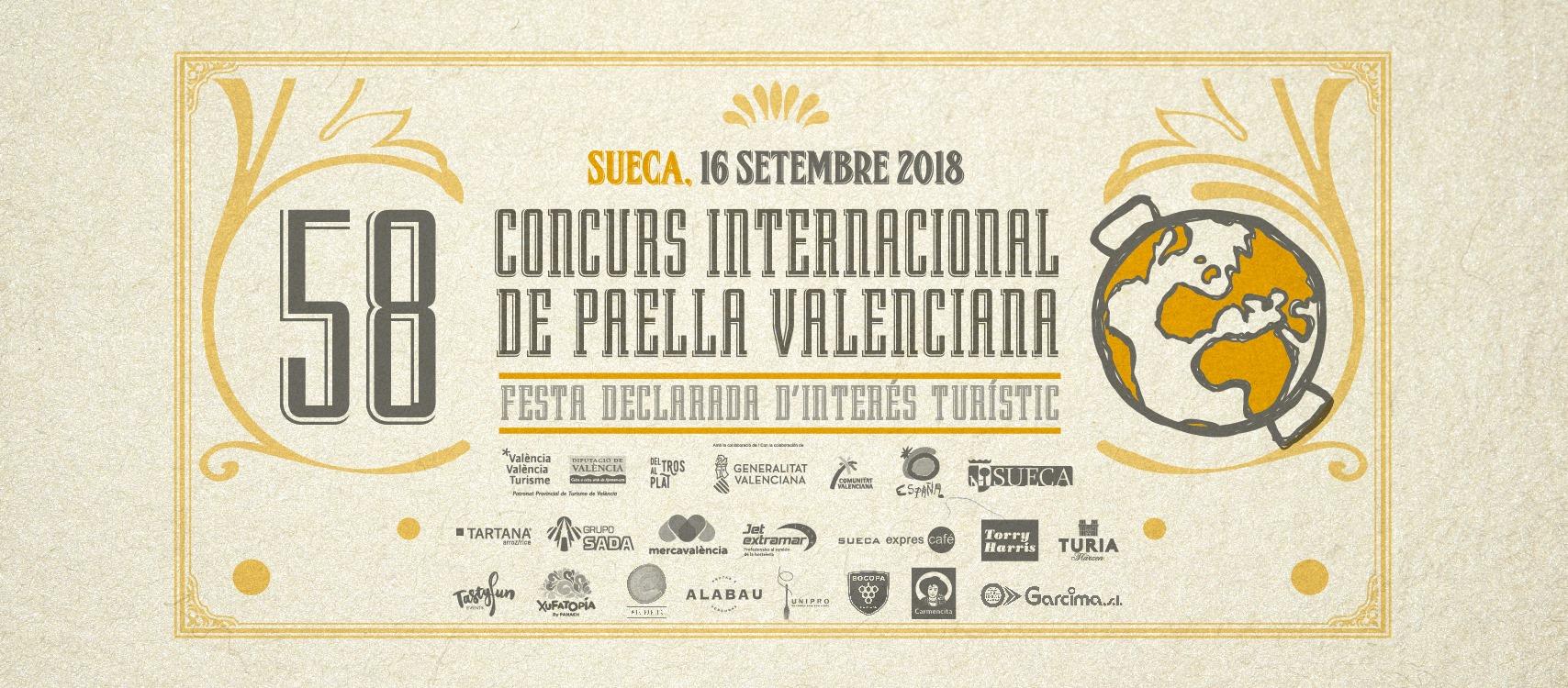 cartel concurso internacional de paellas sueca