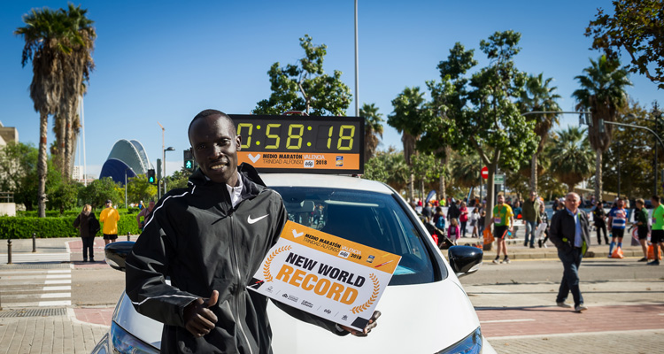 record mundial medio maraton