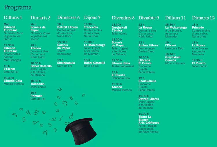 programa festival de las librerias en valencia