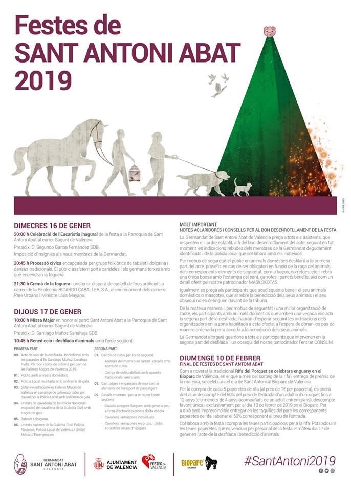 programación san antonio abad 2019