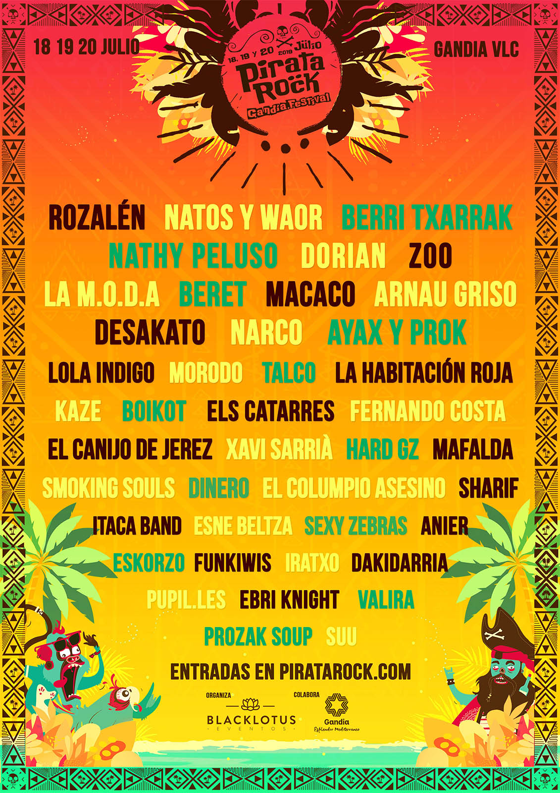 cartel pirata rock 2019