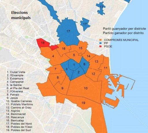 resultados elecciones en valencia por barrios