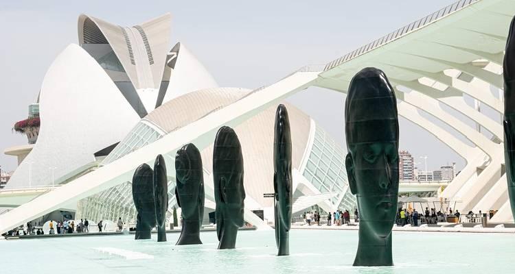 jaume plensa exposición ciudad de las artes y las ciencias valencia
