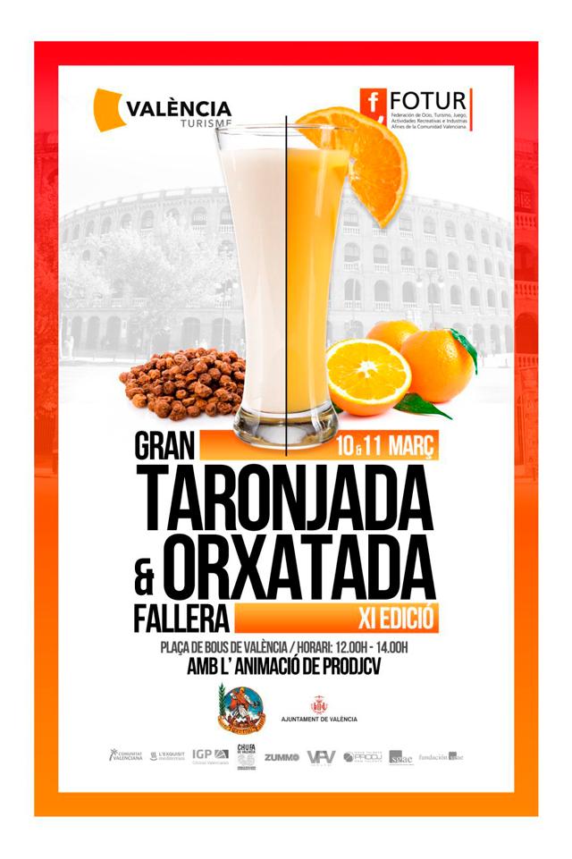 horchatada y naranjada gratis en valencia